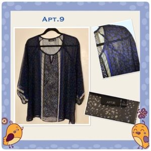 Women's Long Sleeve Sheer Blouse by Apt.9
